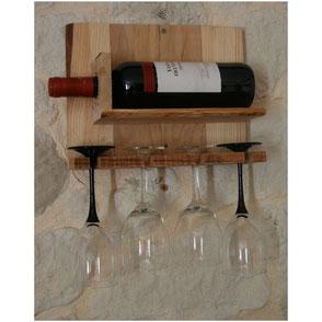 Support bois de palette bouteille et verres Hautes-Pyrénées