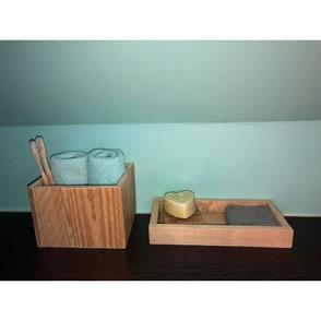 Rangement salle de bain en bois de palette Hautes-Pyrénées