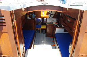 cabine du bateau traditionnel le grand bleu