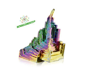 bismuth metal crystal, shiny amazing bismuth crystals, nova elements bismuth crystals for collection