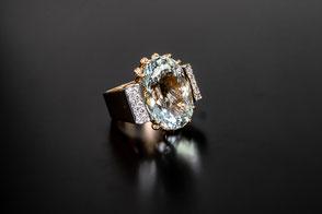 Aquamarin und Diamanten