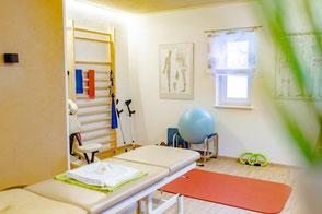 Beckenbodengymnastik Training bzw. Kräftigung der Beckenbodenmuskulatur nach einer Geburt, Gebärmuttersenkungen oder Operationen im Bereich des Beckens.