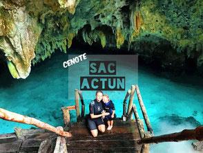 Schwimmend durch die Tropfsteinhöhle