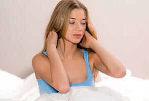 Nackenprobleme, Liegen, Schlafen, Rückenprobleme, Besser Schlafen