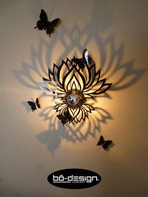 luminaire lotus,luminaire ethnique,luminaire pour chambre,luminaire zen,applique murale zen,applique murale ethnique,luminaire boheme,luminaire designer,zen lampe,lampe zen,accessoires zen,ethnic lamp,luminaire ombre portée,décoration lotus,déco zen