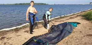 Kitesurfen lernen in der Kiteschule an der Ostsee