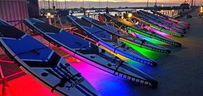 Wassersportangebot an der Ostsee - das NightSUP -Stand UP Paddling