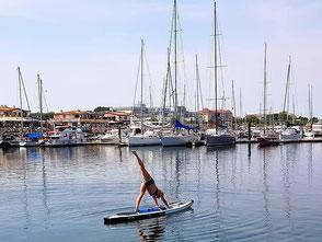 Stand Up paddling -yoga ostsee-Kühlungsborn- meer