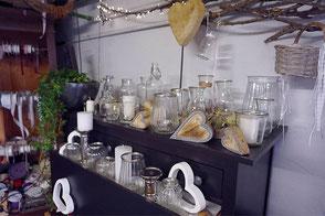 Leihservice von Gläsern und Vasen der Blumenscheune Utphe