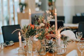 Tischdekoration von der Blumenscheune Utphe