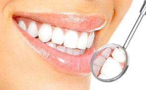 Schöne gepflegte Zähne / Mund