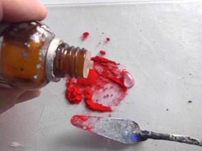 Pigment mit einem Netzmittel anreiben