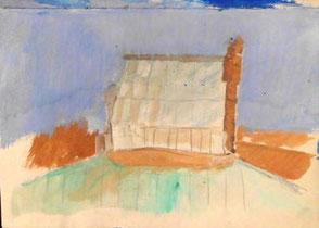 Skizzenbuchseiten, Glashaus über den Dächern