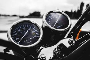 Cockpit eines Motorrades