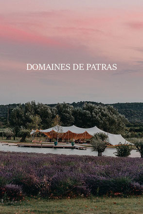 wedding at les domaines de patras provence