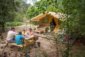 glamping sud ouest 4 étoiles camping tente luxe