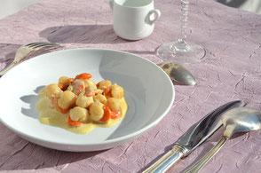 cuisine au safran - idées recette : noix de saint Jacques au safran