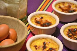 cuisine au safran - idées recette : crème brûlée au safran