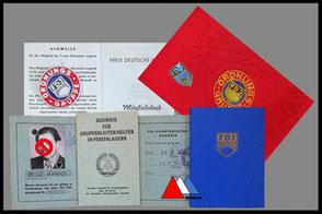 FDJ documenten, badge en armband collectie auteur.