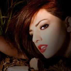 tages Make-up und Nacht make-up, schönheit, Lippenstift tragen