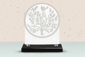 IQONIQ, plaque funéraire personnalisée symbole