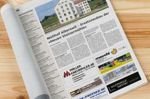presse, publikationen, zell, luzerner hinterland, news, architektur