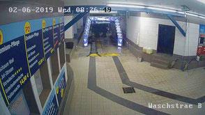 Sicht auf die Autowaschanlage von Wash Clean Bochum
