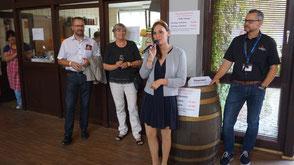 Die Pfälzische Weinkönigin Inga I. bei der Eröffnung der Whisky Palatina