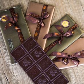 Geschenkidee: Schoggitafeln aus Grand-Cru-Maracaibo-Schokolade in schöner Geschenkverpackung