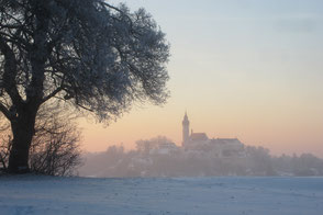 Kloster Andechs im Winter