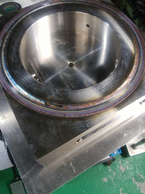 耐真空耐水圧溶接ビードの写真
