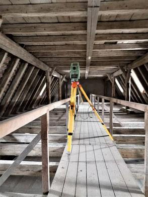 Vermessung Dachstuhl Bauforschung