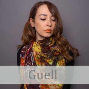 guell crepe de chine luxury silk scarves