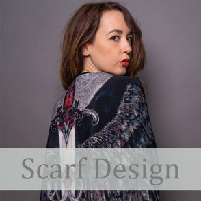 luxury silk scarf design process