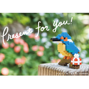 nanoblock postcard kingfisher