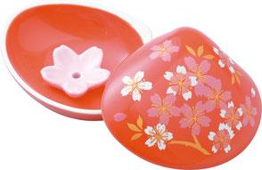 red / cherry blossom