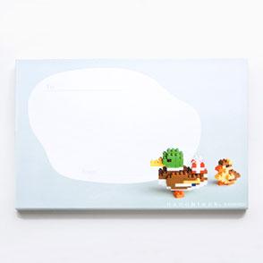 """nanoblock card """"Mallard & Dackling"""""""