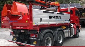 3-Achser Kipper mit Ladekran, Oberauer Transporte Nußdorf
