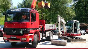2-Achser Kipper mit Ladekran, Oberauer Transporte Nußdorf