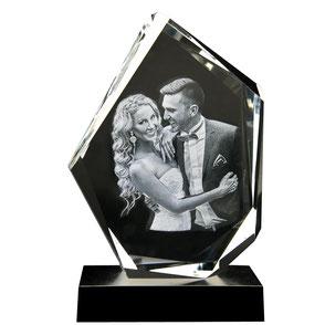 3D-Glaswürfel