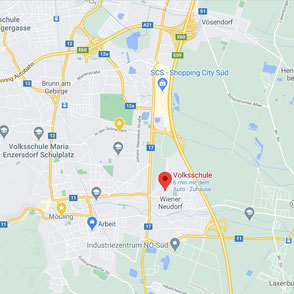 Landkarte Wiener Neudorf