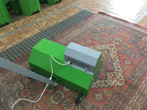 процесс химчистки ковров на фабрике в Москве