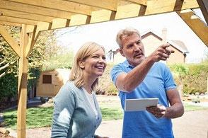 Beratung Kundengespräch Gartenplanung