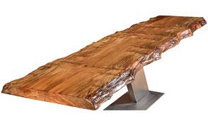 Konferenztisch außergewöhnlich groß, moderner Designer Holztisch aus Kauri Holz Neuseeland