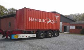 Kauri Tischplatten Transport von Neuseeland nach Goch