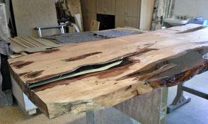Holztischplatte bearbeitet, hochwertiger Wurzeltisch ein Prachtwerk der Natur mit besonderer Ästhetik