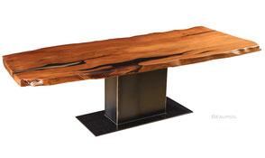 Exklusiver Kauri Holztisch einmaliges Unikat, schöner Esstisch mit spezieller Oberfläche, einzigartiger Designertisch Naturholztisch