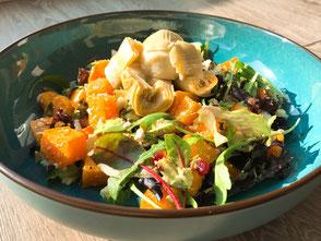 Pompoen-Artisjok salade