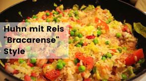 Kochen im Wohnmobil, Campingrezepte, Huhn mit Reis