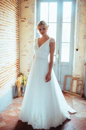 robe de mariée Louise par Elsa Gary fabrication française